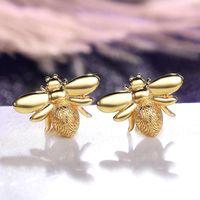 Stud 2021 Simple Woman'S Earrings Creative Design Sense Bee Insect Korean Women Girls Jewelry Sexy