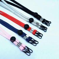 Masking Holder Adjustable Length Face Masks Lanyard Convenient Safety Hanger for Adult String Hat Lanyard Party Favor DFF3177