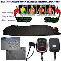 Taşınabilir hızlı zayıflama köknar kızılötesi sauna battaniye lenfatik drenaj yağ vücut sarma battaniyeleri azaltmak