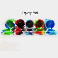 Glass Bongs Accessories 26ml silicone Jar Container Oil Drum Large Capacity Dry Herb Dabber Tools for Dab Rig Wax