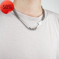 ALYX Hero Chain Necklace Smiley Pearl Accessories Titanium Steel Metal Fashion Hip Hop Y0124