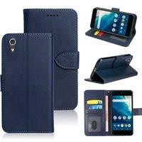 Wysokiej jakości skórzane przypadki dla Kyocera Digno BX Qua Telefon QZ Gratina Kyv48 Basio 3 4 Android One S4 S6 S8 S3 z gniazda kart Magnetic Kickstand Flip Cover Wstrząśnięty