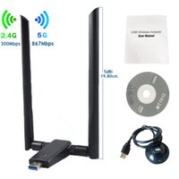 OEM novo produto wifi direto nano adaptador USB 2.4GGHZ / 5GHZ AC 1200MBPS USB 3.0 Interface WiFi Dongle