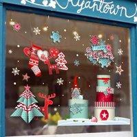 زينة عيد الميلاد اليوم لا الغراء ملصق لون نافذة سوبر ماركت محل إلكتروستاتيكي ماركس الزجاج