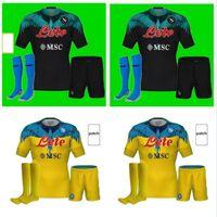 Kids Kit Erwachsene 2021 2022 Serie A Neapel Napoli Fußball-Trikots Zuhause Dritter Fußball Hemd 21 22 Manolas Insignne Lozano Callejón Milik