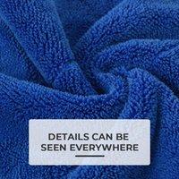 40x40cm blau extra weiche auto waschmittel mikrofaser handtuchreinigung trocknen tuch pflege detailliert wawtowel nie scrat