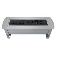 Flip Up Socekt con 2 Power universale, 2 LAN, 3.5AUDIO e presa desktop HDMI per sala conferenze / ufficio / altro