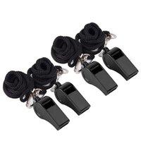 24 stks luide fluitjes voor noodscheidsrechter Coaches Training Outdoor sport- grootte (zwart) weerstandsbanden