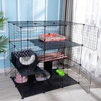 Cat Transportators, Casas Casas de Pet Casa de Ferro Cerca Playpen Indoor Cama de dormir Exercício Sala de estar Dobrável DIY Gatinho Gatos Cães Pequenos