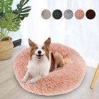Muebles para camas para gatos WillStar Mascotas Cojín para dormir Larga peluche suave con cremallera extraíble para pequeños gatos de perros grandes medianos Cama profunda de mascotas