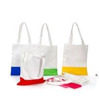 Bolsas de almacenamiento de sublimación Impresión de transferencia de calor Bolsa de lienzo 37 * 20 * 24 cm Blancos Sacos Organización de limpieza Personalice DIY FWF7102