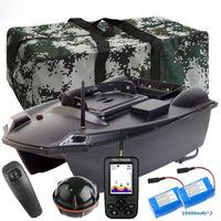 Köder Boot Smart 3kg Laden Automatische Rückgabe Auto Lure Angeln Dual Motors + 10400mAh Batterie + GPS Fish Finder