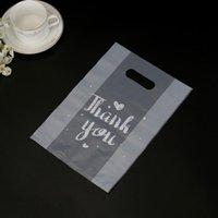 Danke, Kunststoff Geschenk Wrap Tasche Tuch Lagerung mit Griffpartei Hochzeit Candy Cake Wickeltaschen EEB6130