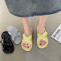 Slippers Summer Shoes For Women 2021 Sliders Woman Flats Designer Slides Ladies Casual Slipper Female Solid