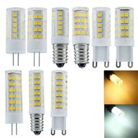 Mini G4 G9 E14 220V 5W 8W 12W 2835 SMD Small Ceramics LED Corn Bulb Capsule Crystal Lights Cold Warm White Lamp
