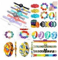 Декоментированная партия игрушка Flip брелок головоломки для облегчения беспокойства, пресс-пальца пузырь музыкальные силиконовые игрушки браслет