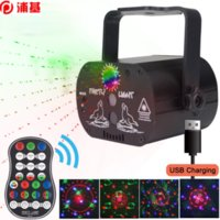 Mini RGB Disco Light USB Rechargeable Red Blue Green Lamp DJ LED Laser Stage Projector Wedding Birthday Party Lamp Lights