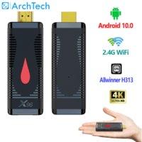 TV Stick X96 S400 Allwinner H313 Quad Core X96S400 Android 10.0 Smart TV Box 4K 2.4G WiFi 2020 New Set Top Box Media Player H.265 HEVC TV Sticks