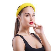 Anel de esponja moda headwear decoração maquiagem cor sólida diariamente cabelo macio acessórios acessórios largos headband mulheres engrossar