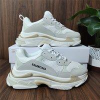 Top Quality Homens Casual Sapato Mulheres Branco Preto Cor-de-rosa Triple S Baixo Fazer Velhos Sneaker Combinação Solas Botas Mens Sapatos de Mulheres Sports Chaussures