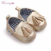 Mocassin Premiers Walkers Toddler Prewalker Chaussures Bébé Boy Guy Girl Pu Pull Pendentif Cuir 1