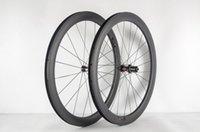 عجلات الدراجة Superteam 700C 50MM الكربون الطريق لايحتاج عجلة مع المتحدث سابيم