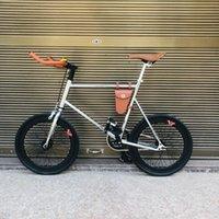 بوصة الثابتة والعتاد دراجة سرعة واحدة الرجعية fixie خمر الشظية دراجة الإطار مصغرة vinbicycle مع سلة الدراجات