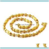 Necklaces & Pendants Jewelryvietnam Alluvial Gold Imitation Necklace Brass Solid Ylindrical Jewelry Wholesale Chains Drop Delivery 2021 Adgb
