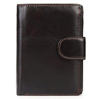 Wallets Wallet Men Leather Genuine Cow Man With Coin Pocket Purse Money Bag Male WalletsPJ055