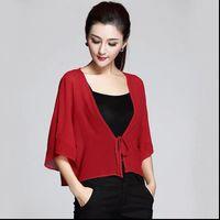 Plus size Summer Chiffon Kimono Women Shirts Beach Cardigan Cover Up Swimwear Blouse Sun protection tops 6XL 7XL 8XL