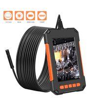 Telecamere dell'endoscopio industriale 1080P HD 4.3 '' Schermo Single Dual Lens Ispezione IP68 Snake Camera con 8 LED 32 GB card