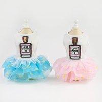 Comfortable Wear Cute Pet Clothes Fluffy Skirt Spring Summer Perfume Print Dress Dog Costumes Apparel