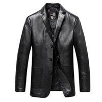 Nouvelle mode Haute Qualité Véritable Véritable Hommes Vêtements de vêtement Spring Automne Mouton Veste Casual Single Single Plus Taille L-8XL 9XL1