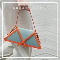 Panelled Trapezoid Underarm Bags 2021 Trendy High Quality Leather Shoulder Designer Handbags Luxury Brand Women