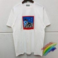 Schwere stoff t-shirt männer frauen britische flagge hip hop top tee schwarz weiß
