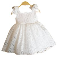 Girls Dresses Children Clothing Kids Clothes 1st Birthday Dress For Baby Girl Princess Wear Cotton Hollow Embroidered Party Holiday B8521