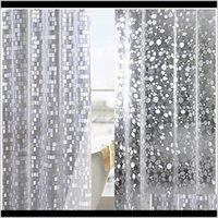 Coussin de coussin en plastique PVC 3D Douche étanche TRANSPARENT BLANCHE CLEAR CLEAR SALLE DE BAIN ANTI MILDEW Rideau de bain translucide avec 12 p WMTIDE YTQ3K