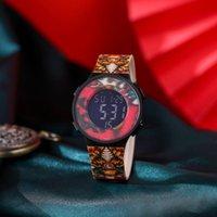 Наручные часы UTHAI BK36 Китайская культура Национальный прилив светлый спортивный многофункциональный мужчина и студентка электронные часы