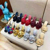 Womens Camellia 하이힐 슬리퍼 패션 여름 10.5cm 스틸레토 발 뒤꿈치 샌들 탑 디자이너 Luxurys 숙녀 플랫폼 슬라이드 신발 상자 크기 35-42