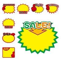 Förderung Tag Kennzeichnung Papier Preis Karte Explosion geformte Preise Ticketanzeige Werbung Banner Etiketten Tags Angebot Poster 50bag T10i55