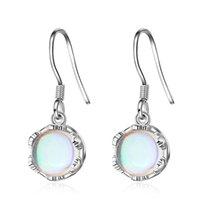 Utimtree Brand Fashion Moonstone 925 Sterling Silver Drop Earrings Jewelry Women Dangle Earring 2021 Wedding Party Brincos Lady & Chandelier