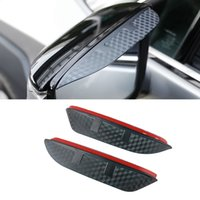 For Lincoln MKC MKX MKZ Auto Car Side Rear View Mirror Rain Visor Carbon Fiber Texture Eyebrow Sunshade Snow Guard Cover Shield