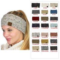 CC Knitted Headband Adults Man Woman Sport Winter Warm Beanies Hair Accessories Boho Yoga Headbands Fascinator Hat Ear Head 21 Colors 100pcs