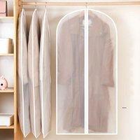 Ropa colgando vestido de vestir traje abrigo polvo cubierta de polvo bolsa de almacenamiento bolsa bolsa de funda organizador guardarropa bolsos fwd6940