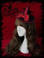 Party Masks Witch Hat Halloween Bat Tea Cap Headdress Lolita Hairpin Japanese Cosplay Women's Top Wings
