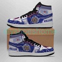 Fan DIY Anime Sneakers yoyo killua Shoes Boots Mens Womens Basketball Shoes Jumpman 1 Model Custom Trainers Casual shoeH73K