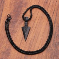 Chokers Men's Long Necklace, Arrow, Pendant, Hip Hop Style, Punk And Rock, Black, Christmas Or Halloween Gift