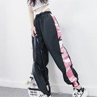 Women's Pants & Capris M Casusal Loose Harajuku Women High-Elastic Sports Side Print Pant Feet Nine Points Pantalones Mujer