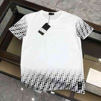 little monster Foye f 2021 spring and summer FF letter print round neck Casual Short Sleeve T-shirt for men