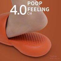 YouDiao 4 cm Kadınlar Balık Kalın Taban Kapalı Ayakkabı Terlik Kadın Yumuşak EVA Slaytlar Sessiz Kaymaz Erkekler Terlik Yaz Sandalet